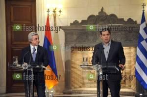Φωτογραφία Συνάντηση μεταξύ του Έλληνα Πρωθυπουργού, κ. Αλέξη Τσίπρα, και του Αρμένιου Προέδρου, κ. Serzh Sargsyan
