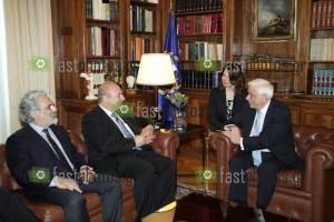 Φωτογραφία Ο Πρόεδρος της Δημοκρατίας κ. Προκόπης Παυλόπουλος με τον καθηγητή κ. Bruce Alan Beutler, Nομπελίστα Ιατρικής